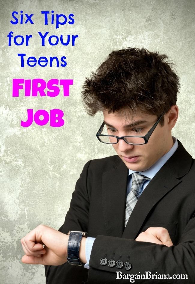 Six Tips for Your Teens First Job