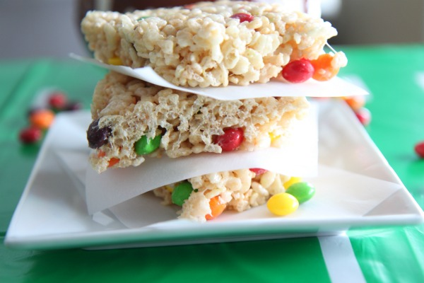 Skittles Crispy Rice Treats - Delicious