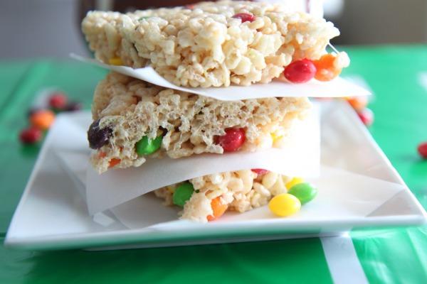 Skittles Crispy Rice Treats - Delicious