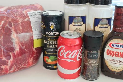 Slow Cooker Coke Pulled Pork Ingredients
