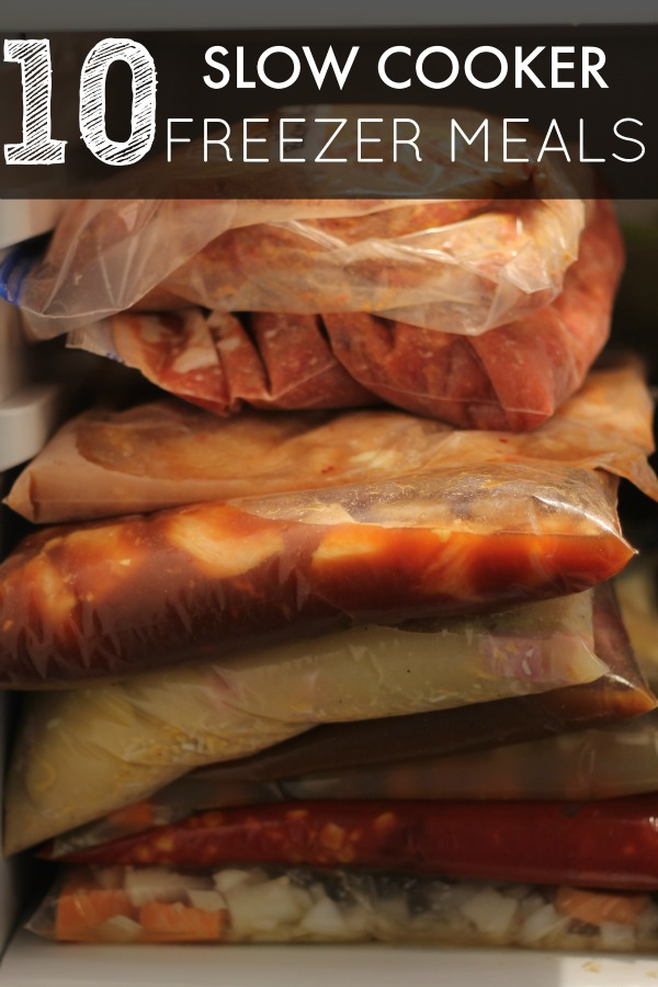 Slow Cooker Freezer Meals - 10 Slow Cooker Freezer Meals that take less than two hours to prepare. Save time and money with this easy meal prep technique and have delicious meals for your family.