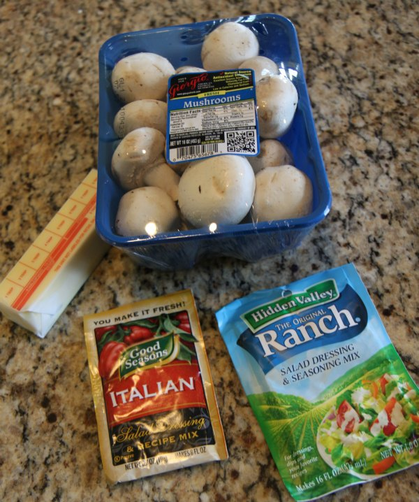 Slow Cooker Mushrooms Ingredients