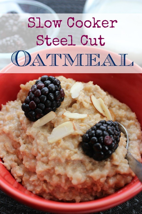 Slow Cooker Steel Cut Oatmeal - BargainBriana