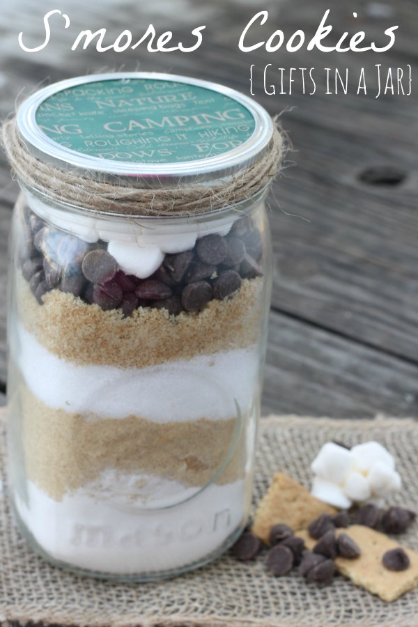 Gifts In A Jar S Mores Cookies Bargainbriana