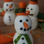 Snowman Made with Boiled Eggs