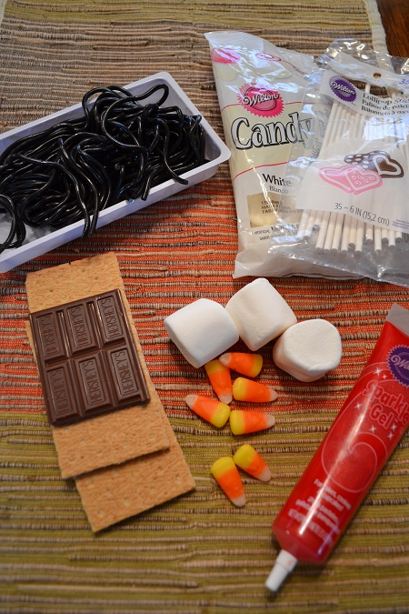 Snowman S'mores Pops Ingredients
