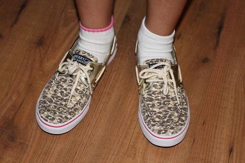 Sofia Sperry Shoes Mismatched Socks