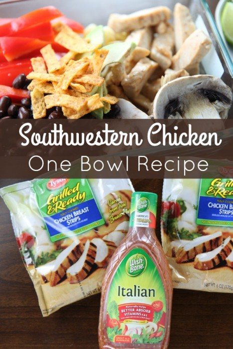 Southwestern Chicken One Bowl Recipe - Easy Weeknight Dinner for the Family