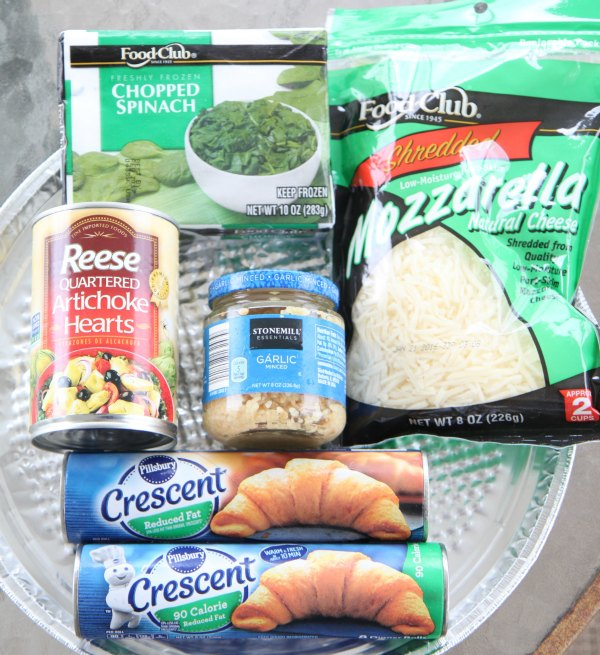 Spinach and Artichoke Crescents Ingredients