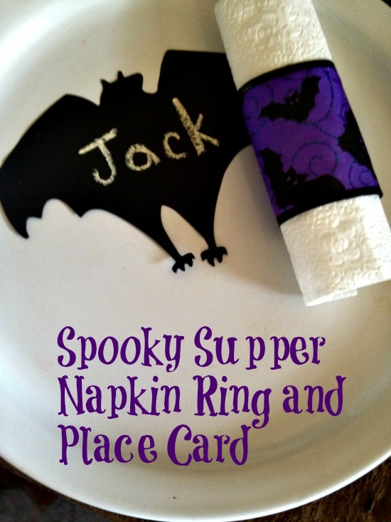 Spooky Supper Napkin Ring and Place Card