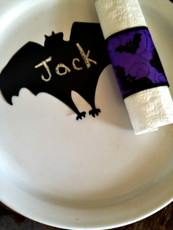 Spooky Supper Napkin Rings and Place Setting