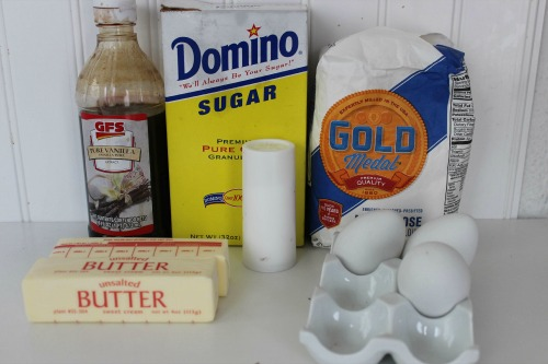 Spritz Butter Cookies Ingredients