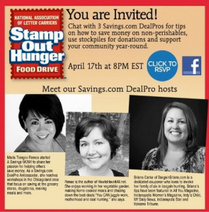Stamp Out Hunger Facebook Chat with Valpak 04/17/13 | #StampOutHunger
