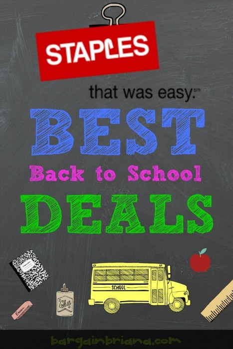 Staples Best Back to School Deals