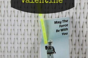 DIY May the Force Be With You Glow Stick Star Wars Lego Valentine