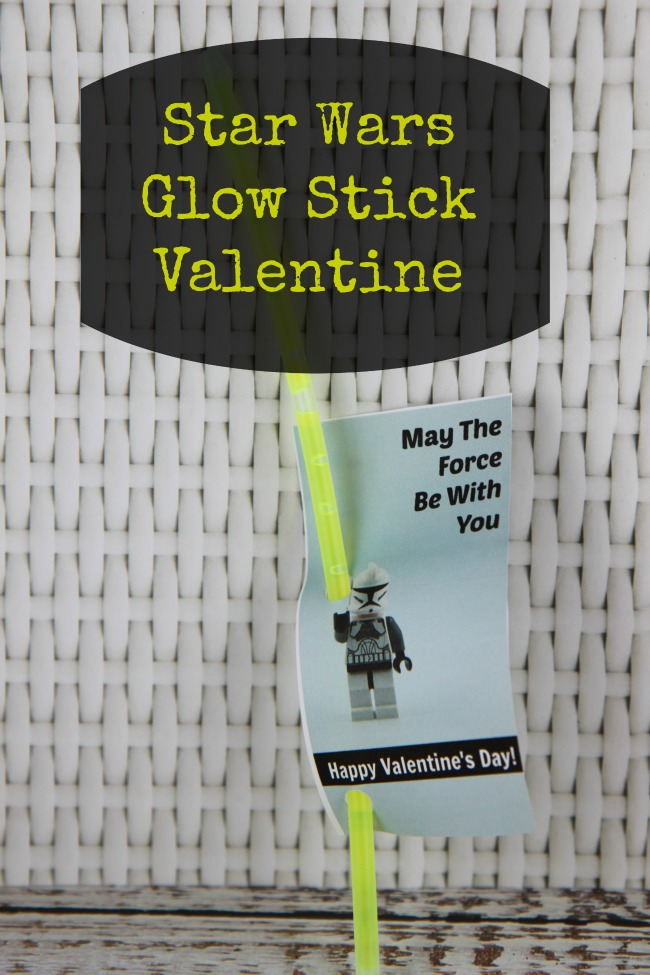 Star Wars Glow Stick Valentine