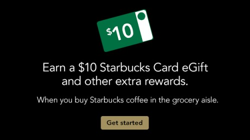 Starbucks Rewards: Buy 4 Starbucks Coffee Bags, Get $10 Gift Card