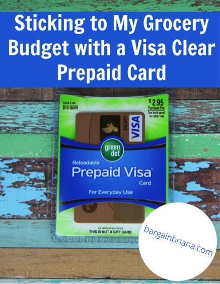 Sticking to My Grocery Budget with Visa Clear prepaid Card