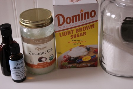 Sugar Cookie Scrub Ingredients