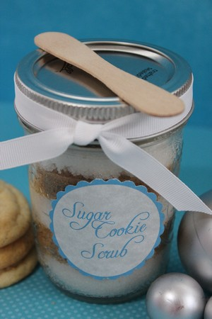 Sugar Cookie Scrub - sugar scrubs - gifts in a jar