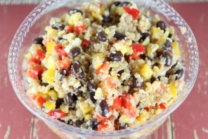 Black Bean Quinoa Salad - delicious summer side dish or main course for vegetarians. It is also gluten free.