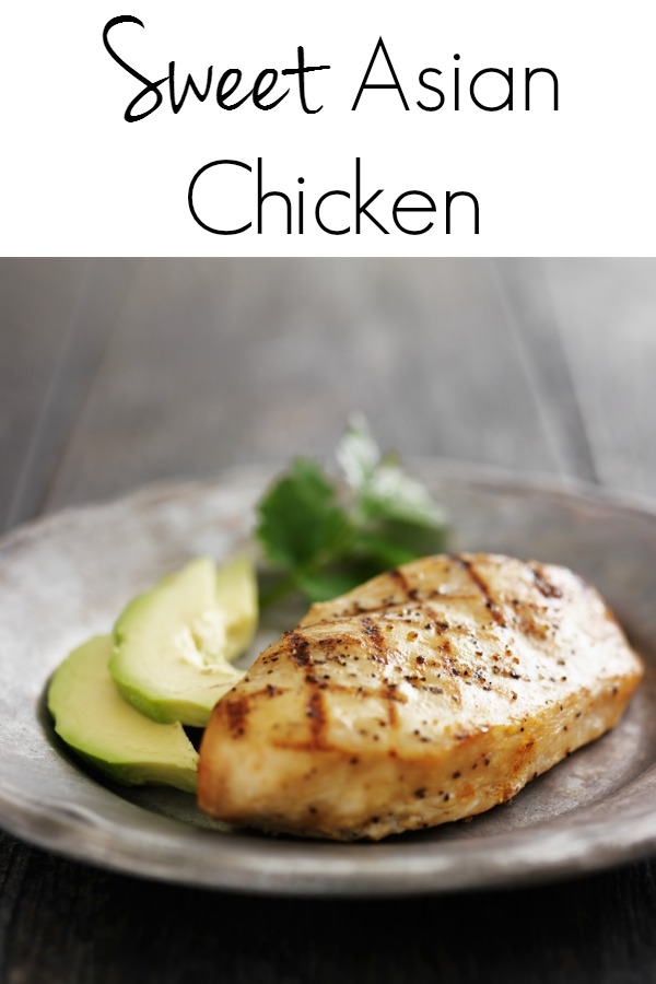 Enjoy the sweet Asian flavors in this marinated chicken breast recipe. Perfect for an easy grill night or drop all the ingredients in your slow cooker for a deliciously easy weeknight meal!