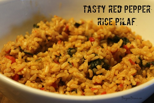 Tasty Red Pepper Rice Pilaf Recipe