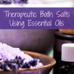 Therapeutic Bath Salts Using Essential Oils