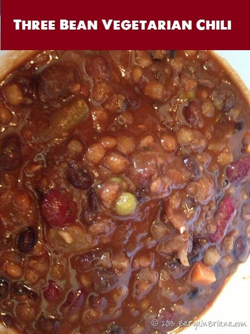 Three Bean Vegetarian Chili