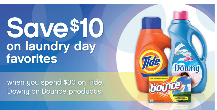 Tide Downy Bounce Rebate Offer $10 Tide/Downy/Bounce Products Rebate Offer