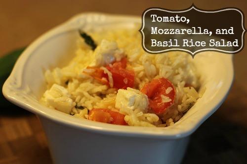 Tomato Mozzarella Basil Rice Salad