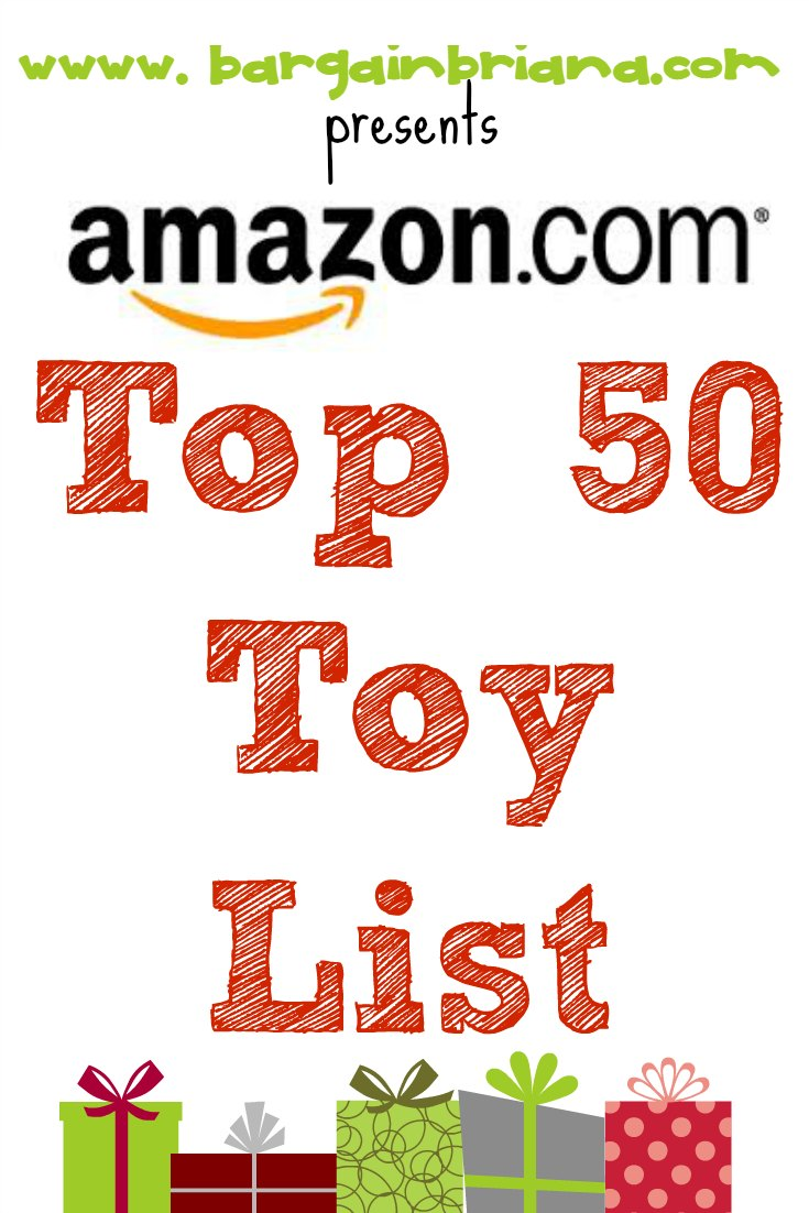 Top 50 Toy List at Amazon