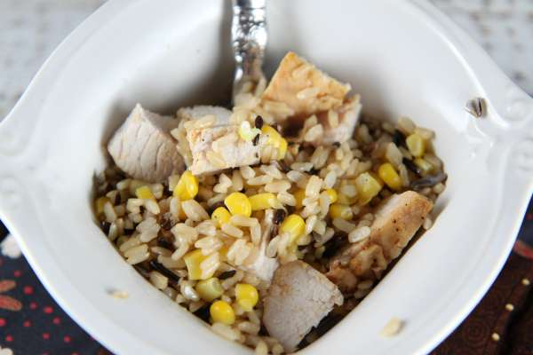 Turkey Rice Bowl made with Minute Ready to Serve Rice