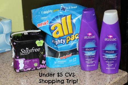 Under 5 CVS Shopping Trip
