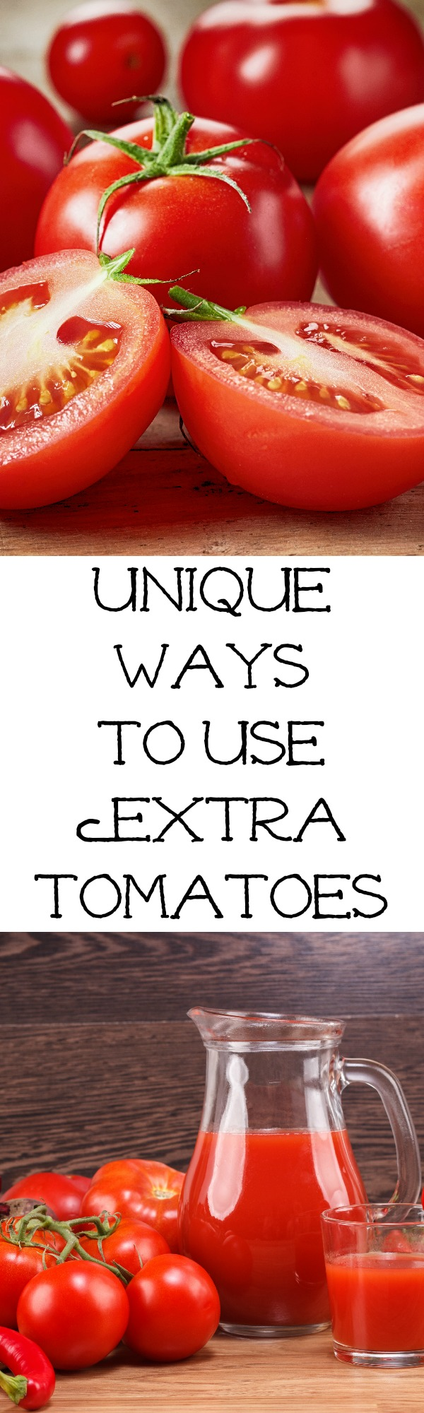 Unique tomato recipe ideas full of flavor to make when you have an abundance of tomatoes and are sick of making spaghetti sauce! Dinner ideas, salad ideas, and more!