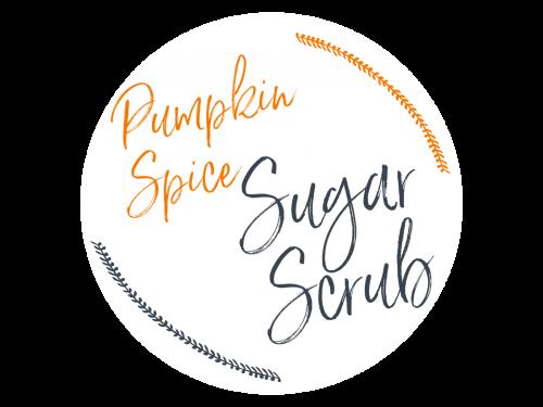 Pumpkin Spice Latte Sugar Scrub Printable Label