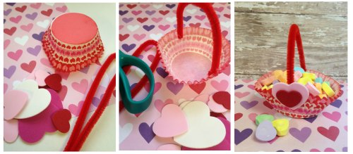 Valentines Day Treat Baskets that You can Make from Dollar Store Supplies