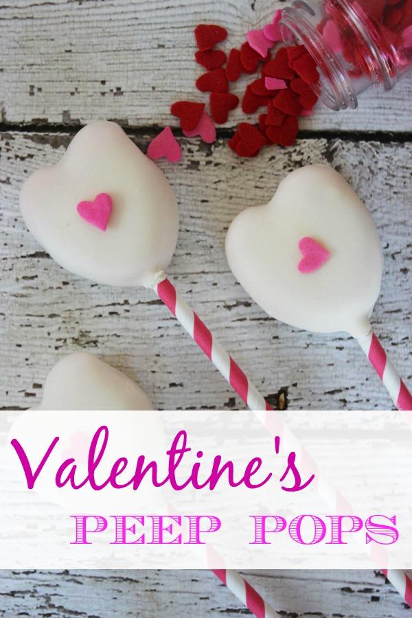 Valentines Peeps Pops