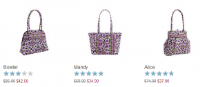 Vera Bradley 300x126 50% off Select Patterns at Vera Bradley