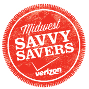 Verizon Midwest Savvy Savers Button Verizon Tablet A Day Giveaway #VZWSS
