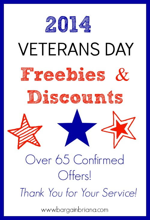 Veterans Day Freebies and Discounts for 2014