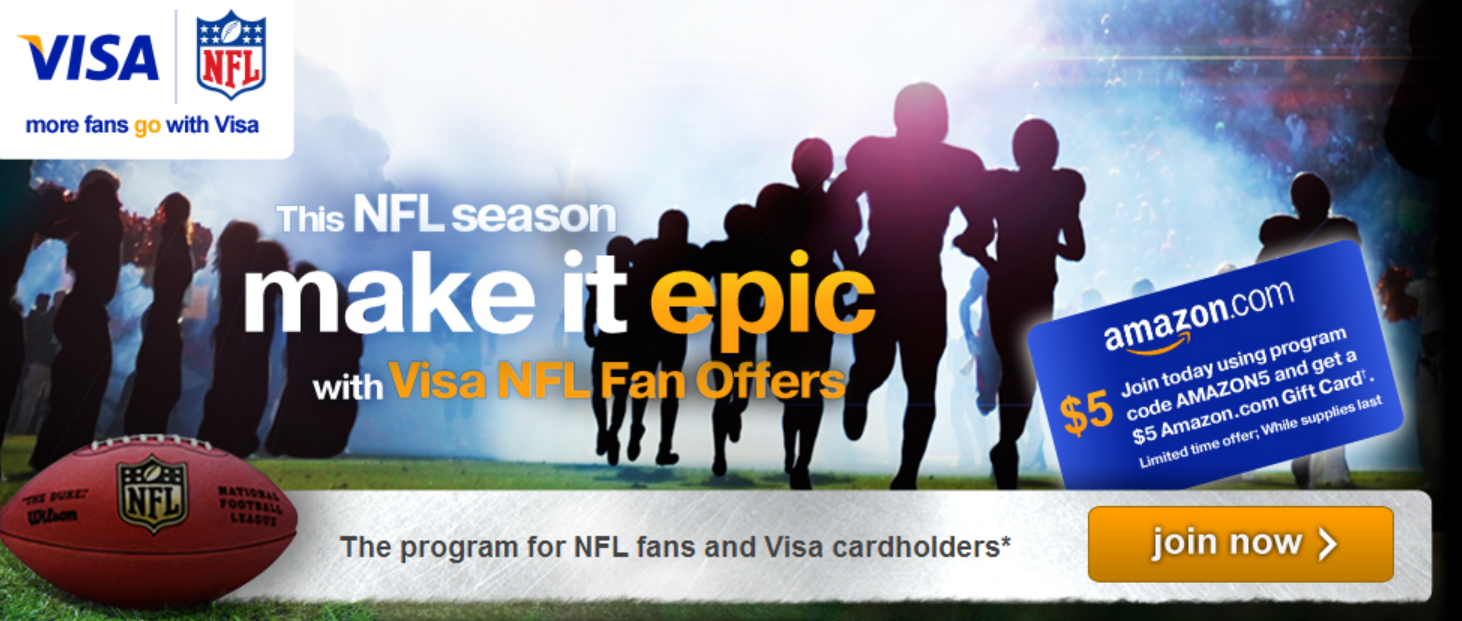 Nov 14,  · Team Visa Prepaid Cards, issued by GE Capital Retail Bank and managed by Green Dot Corporation, sport the logos of eight Visa-sponsored NFL teams: the Atlanta Falcons, Baltimore Ravens, Buffalo Bills, Denver Broncos, Indianapolis Colts, Minnesota Vikings, San Diego Chargers and the San Francisco 49ers.