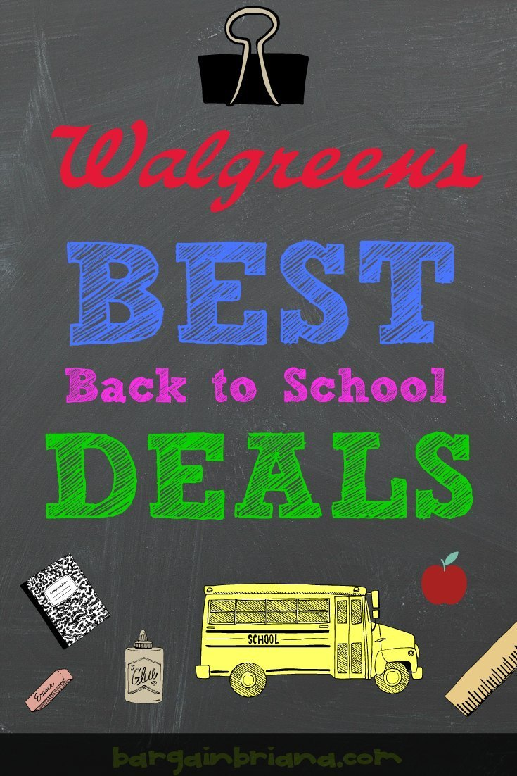 Walgreens Best Back to School Deals