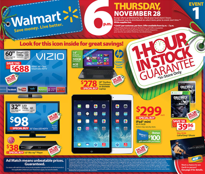 Walmart Black Friday 2013 Walmart Black Friday Ad Deals