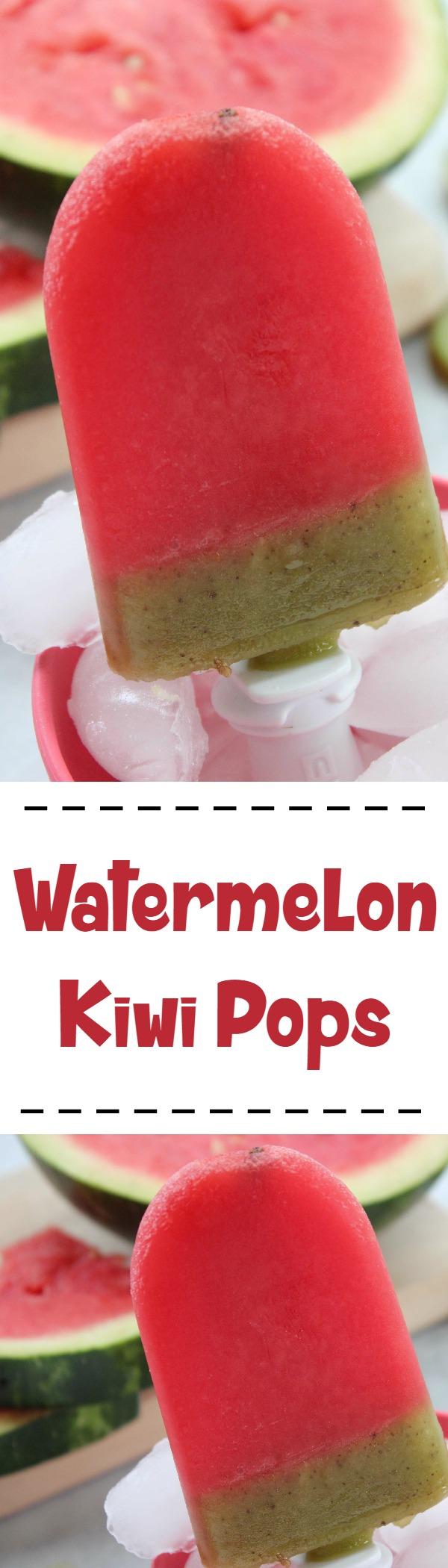 Watermelon Kiwi Pops Recipe