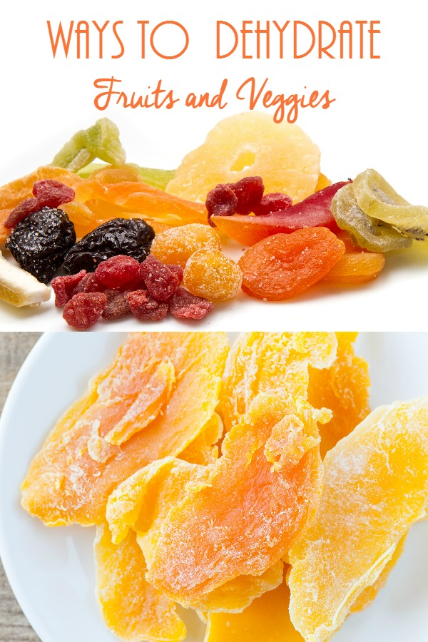 Ways to Dehydrate Fruits and Veggies