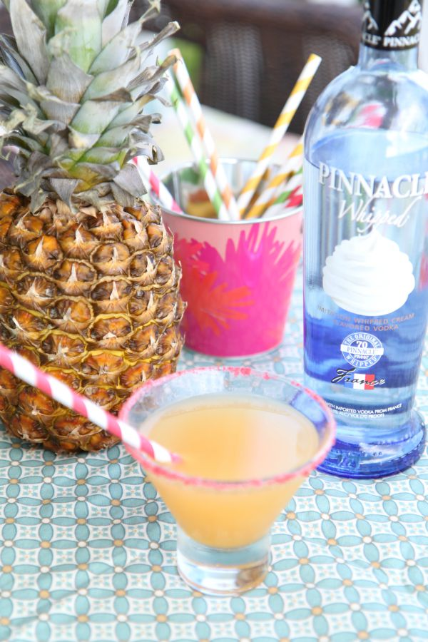 Whipped Pineapple Cocktail made with Pinnacle Whipped Vodka