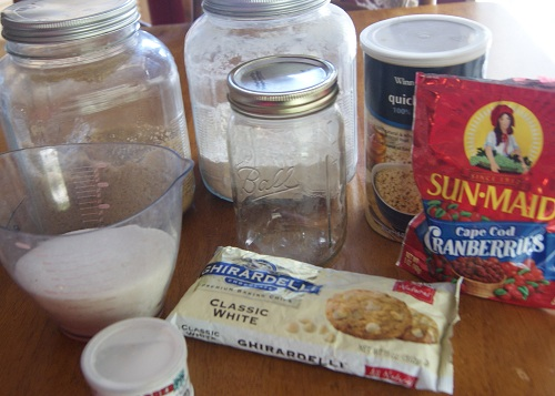White Chocolate Cranberry Cookies ingredients