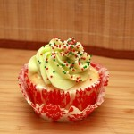 White Chocolate Holiday Cupcake