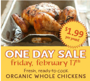 Whole Foods Organic Chicken Sale